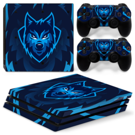 Gamer Wolf - PS4 Pro Console Skins