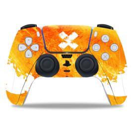 PS5 Controller Skins - Liquid Grunge Geel / Oranje