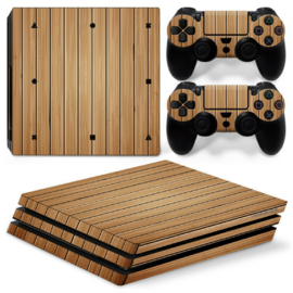 Wood Brown - PS4 Pro Console Skins