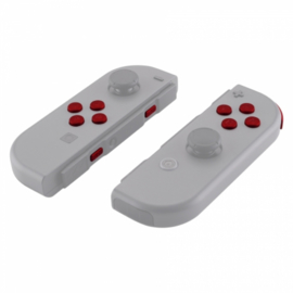 NS Buttons - Rood Soft Touch - Joy Con Controller Buttons