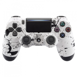 Soft Touch White with Black Splatter - Custom PS4 Controllers