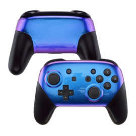 Nintendo Switch Pro Controller - Blauw / Paars Metallic Custom