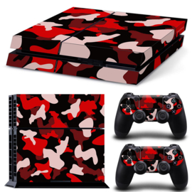 Army Camo Red Black - PS4 Console Skins