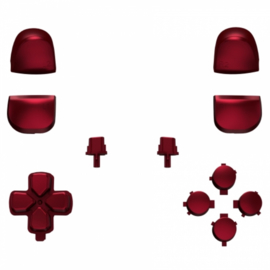 PS5 Controller Buttons - Rood - 11 in 1 Button Set