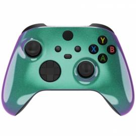 Xbox Series Draadloze Controller - Metallic Chameleon Groen / Paars Custom