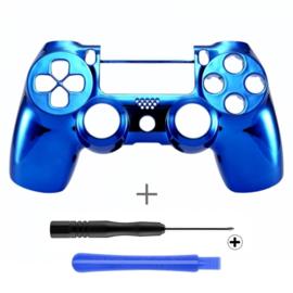 PS4 Controller Behuizing Shell - Chrome Blauw (GEN 4, 5) - Front Shell