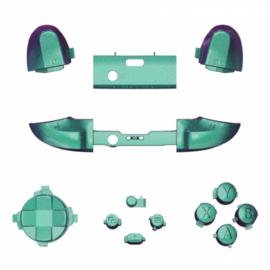 Metallic Chameleon Groen / Paars - Xbox Series Controller Buttons