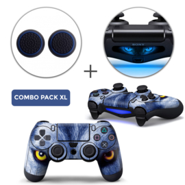 Wolf Eyes Skins Grips XL Bundel - PS4 Controller XL Combo Packs