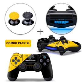 Leeuwarden Skins Grips XL Bundel - PS4 Controller XL Combo Packs