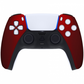 Sony PS5 DualSense Draadloze Controller - Rood Soft Touch Front Custom