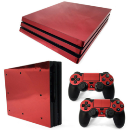 Red Chrome - PS4 Pro Console Skins