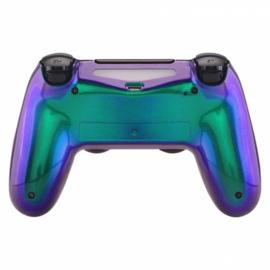 Sony DualShock 4 Controller PS4 V2 - Metallic Chameleon Groen / Paars Set Custom