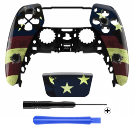PS5 Controller Behuizing Shell - US Flag - Front Shell