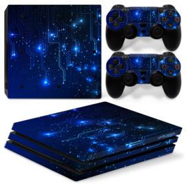 CPU / Blue - PS4 Pro Console Skins