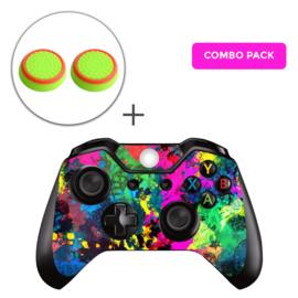 Color Splash Skins Grips Bundel - Xbox One Controller Combo Packs