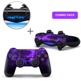 Dark Galaxy Skins Bundel - PS4 Controller Combo Packs
