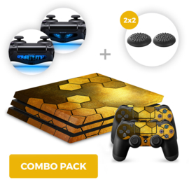 Steel Gold Skins Bundel - PS4 Pro Combo Packs
