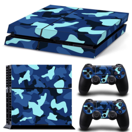 Army Camo Blue Black - PS4 Console Skins