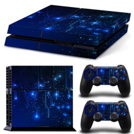 CPU / Blauw - PS4 Console Skins