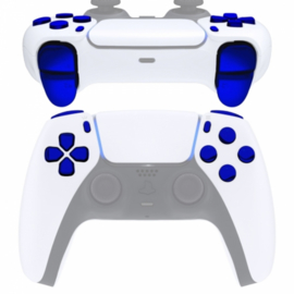 PS5 Controller Buttons - Blauw Chrome - 11 in 1 Button Set