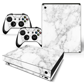 Marble White - Xbox One X Console Skins