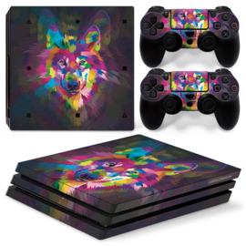 Color Wolf - PS4 Pro Console Skins
