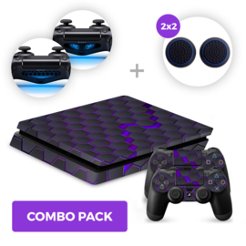 Hex Galaxy Skins Bundel - PS4 Slim Combo Packs