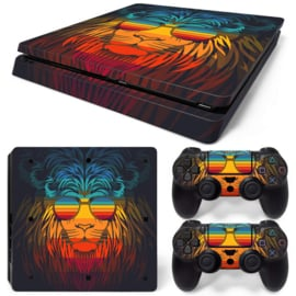 Retro Lion - PS4 Slim Console Skins