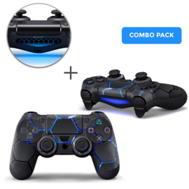 Hex Lightning Skins Bundle - PS4 Controller Combo Packs