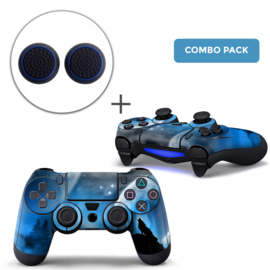 Dire Wolf Skins Grips Bundle - PS4 Controller Combo Packs