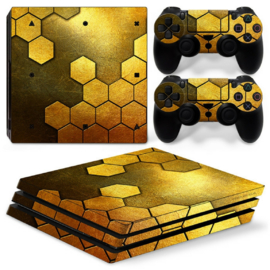 Steel Gold - PS4 Pro Console Skins