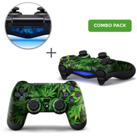 Weed Leaves Skins Bundel - PS4 Controller Combo Packs