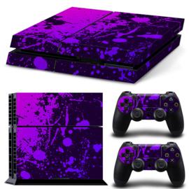 Verfspetters / Paars met Violet - PS4 Console Skins