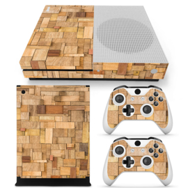 Wood Premium - Xbox One S Console Skins