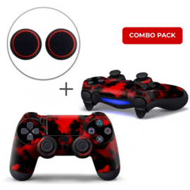 Army Camo Red Skins Grips Bundle - PS4 Controller Combo Packs