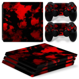 Army Camouflage Red - PS4 Pro Console Skins
