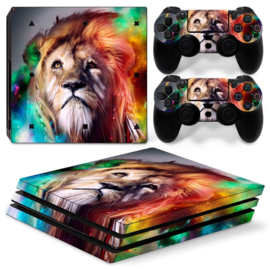 Lion Abstract - PS4 Pro Console Skins