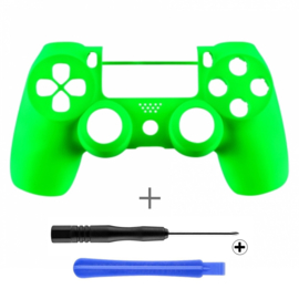 Soft Touch Neon Green (GEN 4, 5) - PS4 Controllers Shells