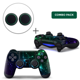 CPU / Mix Skins Grips Bundle - PS4 Controller Combo Packs
