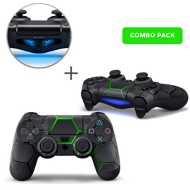 Hex Lime Skins Bundle - PS4 Controller Combo Packs
