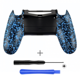 PS4 Controller Behuizing Shell - 3D Grip Blauw (GEN 4, 5) - Back Shell