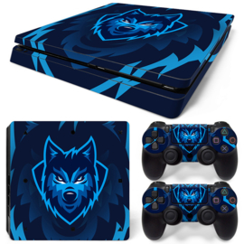 Gamer Wolf - PS4 Slim Console Skins