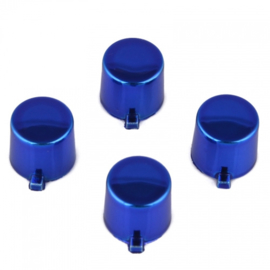 Blue Chrome (4 pieces) - PS4 Controller Buttons
