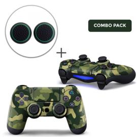 Army Camo Groen Zwart Skins Grips Bundel - PS4 Controller Skins