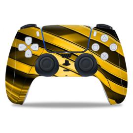 PS5 Controller Skins - Metal Twirl Goud / Zwart