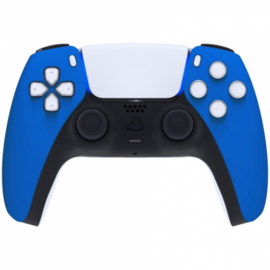 Sony PS5 DualSense Draadloze Controller - Blauw Soft Touch Front Custom