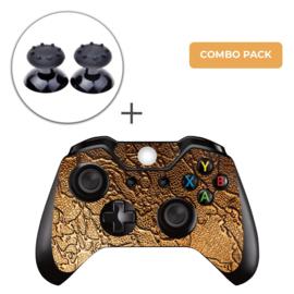 Golden Waves Skins Grips Bundel - Xbox One Controller Combo Packs