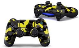 Army Camo Geel Zwart - PS4 Controller Skins