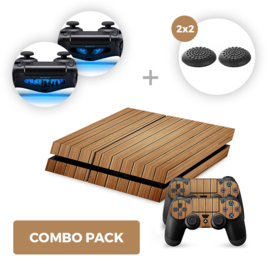 Wood Brown Skins Bundle - PS4 Combo Packs