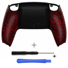 PS5 Controller Behuizing Shell - Rood 3D Grip - Back Shell